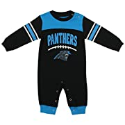 OuterStuff NFL Infant Carolina Panthers Button-up Coverall Sleeper, Black 6-9 Months