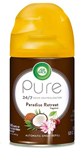 Air Wick Pure Freshmatic Refill Automatic Spray, Paradise Retreat, 1ct, Air Freshener, Essential Oil, Odor Neutralization, Packaging May Vary ()