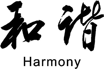Amazon Chinese Symbol Harmony Wall Decal Removable Wall Sticker