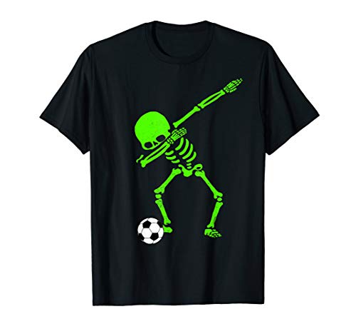Halloween Dabbing Skeleton Soccer Ball T-Shirt Skeleton -