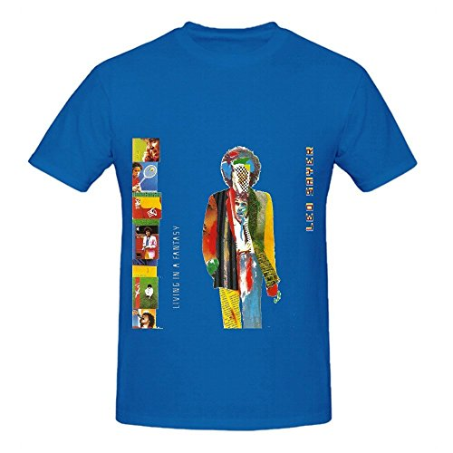 Leo Sayer Living In A Fantasy Jazz Men Round Neck Customized T Shirts Blue - Judge Judy Free Book