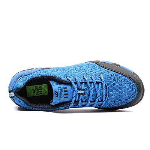 Hombres Zapatos deportivos Moda Respirable Antideslizante Formación Zapatos para correr Blue