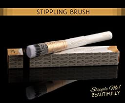 HIGHLY RATED Pro Stippling Brush on Amazon. Professional Airbrush Finish. Perfect for Blending Liquid and Powder Foundation, Blush, Highlighting and Contouring. NYC Makeup Artist Approved.