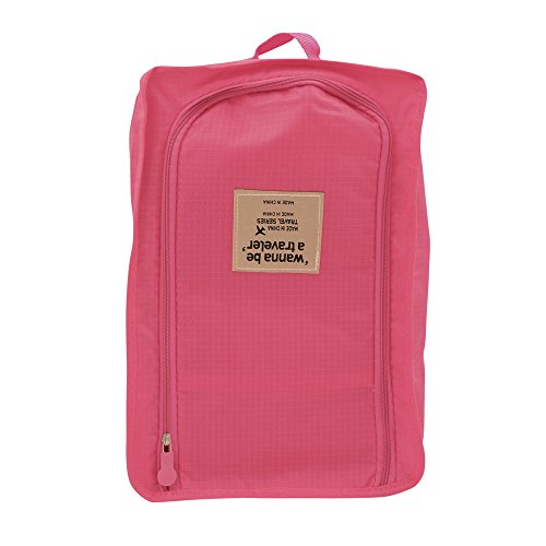 BURUIS Shoe Bag Convenient Packing System For Your Shoes When Traveling - Space Saver Bag - Protects Your Clothes From Dirt And Smell Of Your Shoes - Easy And Quick Access To Your Shoes (Pink)