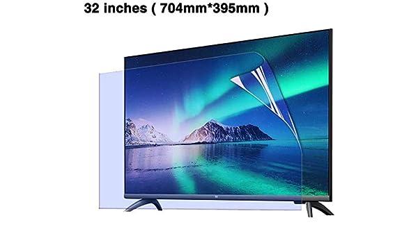 DPPAN 32 Pulgadas TV Protección de Pantalla para Televisor Anti Luz Azul, Ultra Claro Antirreflejos Anti Arañazos Película Protectora, Protección Ojos Screen Protector LCD,Clean: Amazon.es: Electrónica