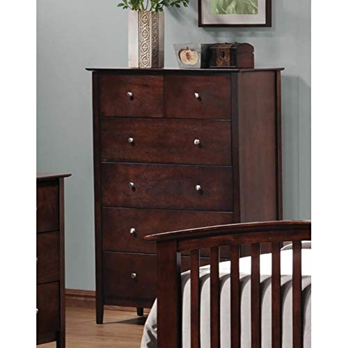 Coaster Home Furnishings Tia 5-Drawer Vertical Chest Cappuccino