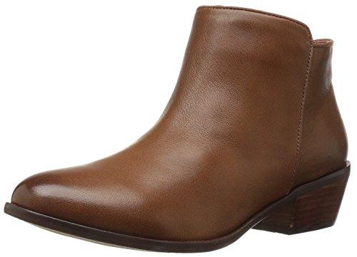 206 Collective Women's Magnolia Low Heel Ankle Bootie Cognac Leather