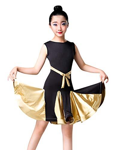 Happy Cherry Kids Ballroom Competition Dance Dress,Slim