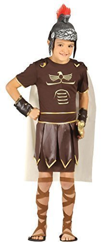 Boys Ancient Roman Soldier Greek Gladiator Warrior Historical Fancy Dress Costume 5-12 yrs (10-12 -