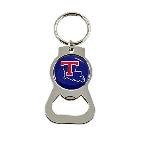 aminco NCAA Louisiana Tech Bulldogs Bottle Opener Key Ring - Louisiana Tech Bulldogs Keychain