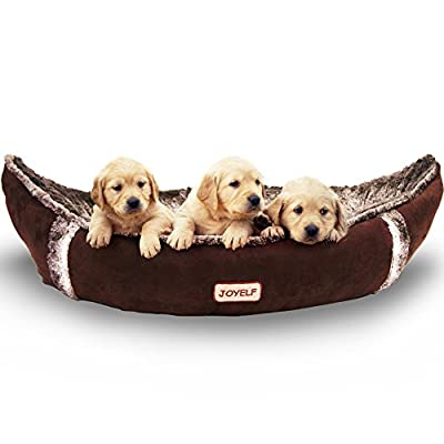 JOYELF Medium Dog Bed Orthopedic Dog Bed with Removable Washable Cover Warm Dog Bed for Small to Medium Dogs and Toys as Gift