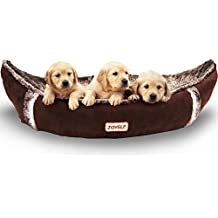 JOYELF Medium Orthopedic Dog Bed with Washable Cover Pirate Ship Dog Bed for Small to Medium Dogs and Toys as Gift