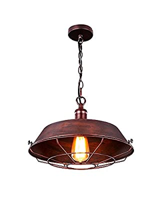 Parrot Uncle Medium Size Retro Industrial Style Barn Pendant Light