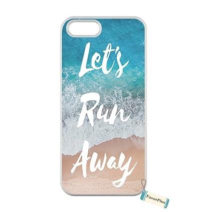 2ee146d51c9 FavorPlus Iphone 5/5S/SE Let's Run Away Sandy Beach Custom Personalized  Customized Iphone