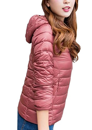 M&S&W Women's Winter Light Packable Hooded Puffer Down Outwear 8 L