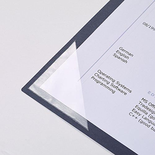 F/ünf 3-teilige Bewerbungsmappen Executive-Exclusiv mit Pr/ägung K/önigsblau