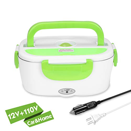 - YISSVIC Electric Lunch Box Food Heater Car and Home Use Portable Lunch Heater with Removable Stainless Steel Container Food Grade Material 110V and 12V