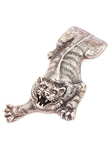 Silver Banknote clip Money clip ''Tiger'' small by Sribnyk - Gallery of Silver Art