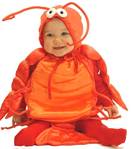 Mullins Square Lobster Baby Costume, Red, 6-18