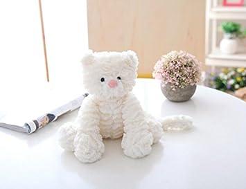 Upstudio Lindo y Suave 25 cm Juguetes para Gatos Peluche Felpa muñecas de Felpa de Peluche Juguetes de Peluche Regalos para niños (Blanco): Amazon.es: ...