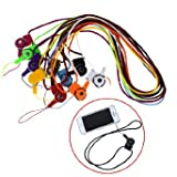 YUYIKES Detachable Neck Strap Lanyard Ring For iPhone Samsung Cell Phone ID Card MP3 PSP With Cleaning Cloth (10Pcs Mix Color)