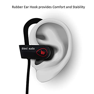 Bluetooth Earbuds, iblast audio, Wireless Running Headphones, Sweat-Proof, Secure Fit, 8 hour battery, Sport with Bass