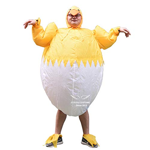 VT BigHome Adult Unisex Inflatable Chicken Costume Halloween Costumes Carnival Costume Animal Mascot Costume for Christmas Birthday Gift for $<!--$79.53-->