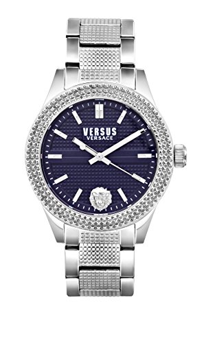 Versus by Versace Women's 'BAYSIDE' Quartz Stainless Steel Casual Watch, Color:Silver-Toned (Model: SOJ120016)