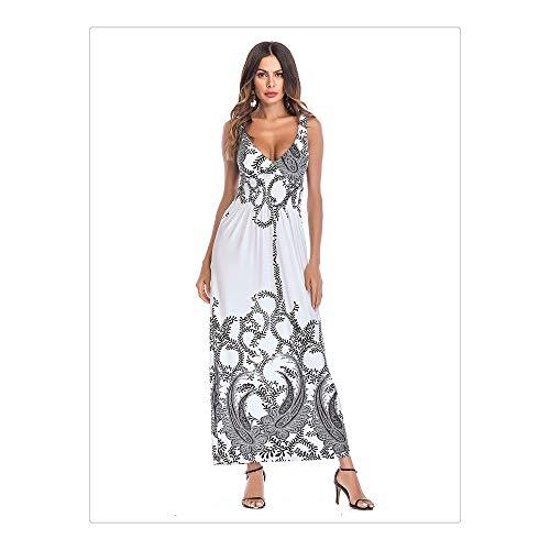 Size New Jupe Nhatycir Elegant Temperament Skirt Long Women Dress White M Color Vintage Mop White Imprimer 's 6dIAIqxw
