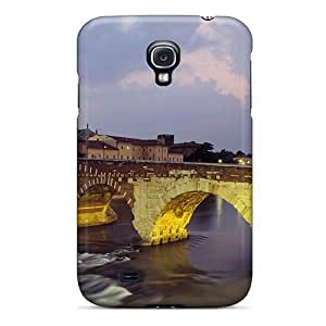 New Galaxy S4 Case Cover Casing(light On Old Bridge In Italy)