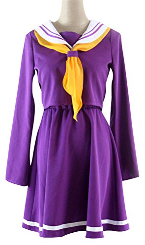 Halloween Anime No Game No Life Shiro Japanese School Girls Sailor Suit Cosplay Costume Fancy Dress