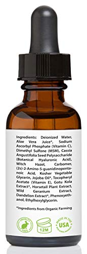 Vitamin C Serum for Face 20% with Hyaluronic Acid & Vitamin E, 1 fl. oz..