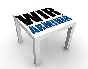 Tavolino Design DSC Arminia Bielefeld® We Are Arminia 55x55x45cm, Tischfarbe:Weiss;Größe:55 x 55 x 45cm