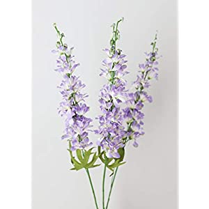 "Lavender Artificial Delphinium Wildflower Bundle - 33"" Tall 10"