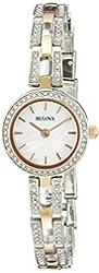 Bulova Women's 98L212 Crystal Analog Display Quartz Two Tone Watch