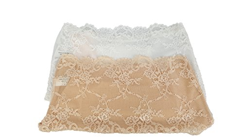 2 Mutande PACCO PISARRA donna filoscozia alta Bianco vita pizzo in da slip nudo a in cotone DA DANA HZFqw51w