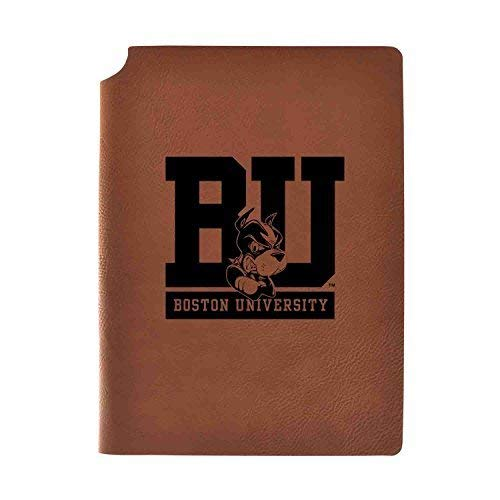 - Boston University Velour Journal with Pen Holder|Carbon Etched|Officially Licensed Collegiate Journal|