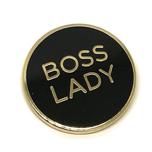 Boss Lady Lapel Pin - Funny Bossy Female Brooch for Shirt Hat Jacket Hooddie Shoe