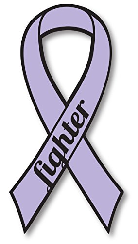 Lavender All Cancer Fighter Ribbon Car Magnet Decal Heavy Duty ()