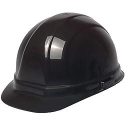 ERB 19949Omega II Gorra estilo sombrero duro con Mega de carraca, negro