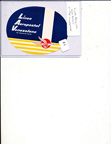 Linea Aeropostal Venzolana Airline Luggage Label Sticker Decal nm