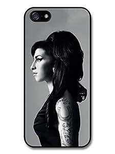 Amy Winehouse Black and White Posh Profile Portrait Case For HTC One M7 Cover