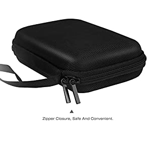 "MoKo 7-Inch GPS Carrying Case, Portable Hard Shell Protective Pouch Storage Bag for Car GPS Navigator Garmin/Tomtom/Magellan with 7"" Display - Black"
