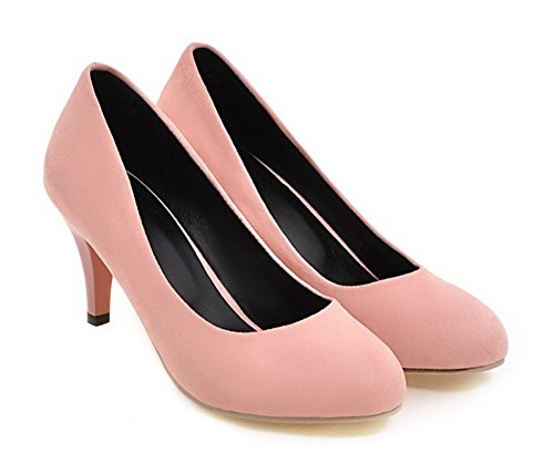 Aisun Womens Elegant Pointy Toe Dress Low Cut Stiletto Kitten Heels Slip On Bridal Pumps Shoes Pink NpOxJgm