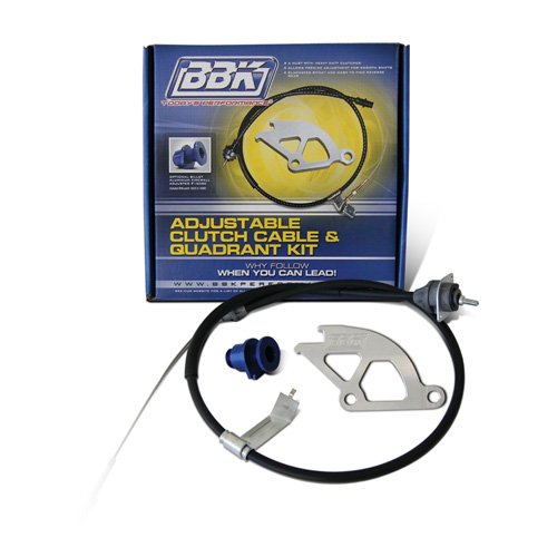 BBK Performance 16095 Adjustable Clutch Cable, Double Hook Aluminum Quadrant and Firewall Adjuster Kit for Ford Mustang GT, Cobra