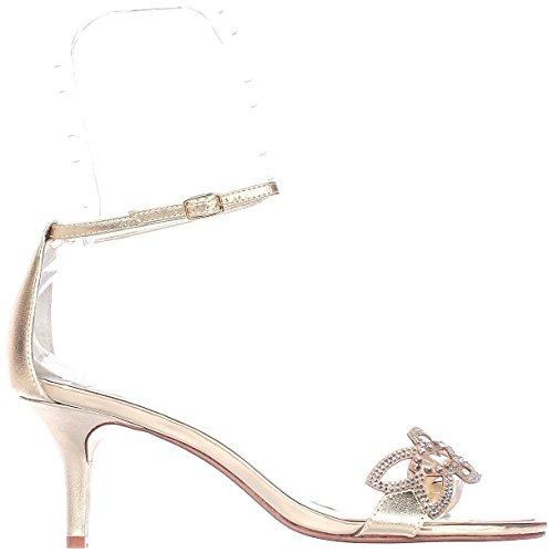 Caparros - Sandalias de vestir para mujer Rose Gold Metallic