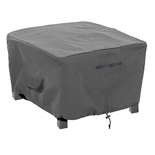 Premium Wicker Chair Covers (Patio Ottoman/Side Table Cover Rectangular Premium Outdoor Furniture Cover with Durable and Waterproof 600D Oxford Fabric (21