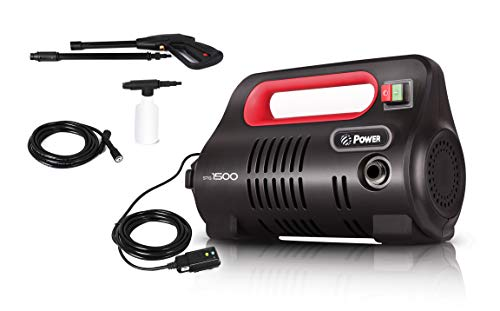 Power Pressure Washer 1500 PSI Electric 1.3 GPM - BRUSHLESS Technology | 4 X More Lifespan | Ultra Low Sound | New Design | Power Efficient | Super Lightweight (Red)