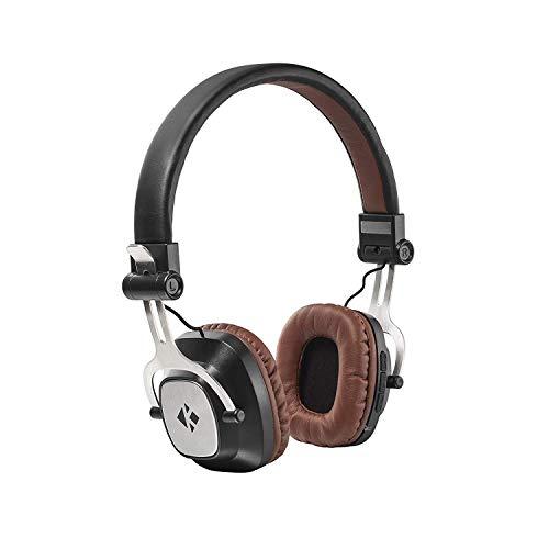 Kinbashi Kids Headphones, Wireless Bluetooth Over-Ear Heavy Bass Stereo Sound & Noise Cancelling Headsets (Brown)