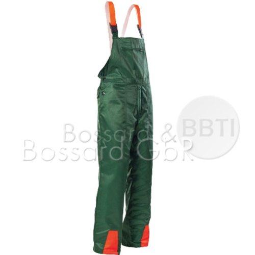 Hochwertige Schnittschutz-Latzhose Forsthose EN381 Schnittschutzhose (56, grün)